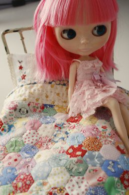 blyhte on her bed